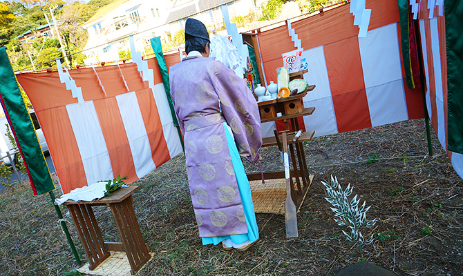 地鎮祭は古峯神社にお願いしました