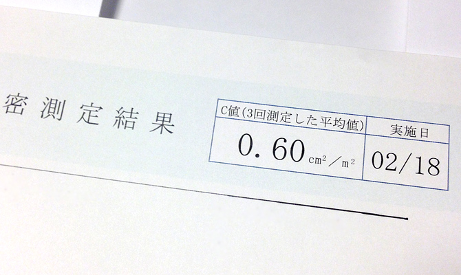 i-smart気密測定C値
